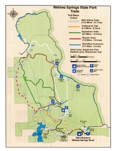 Map of Wekiwa Springs Trails