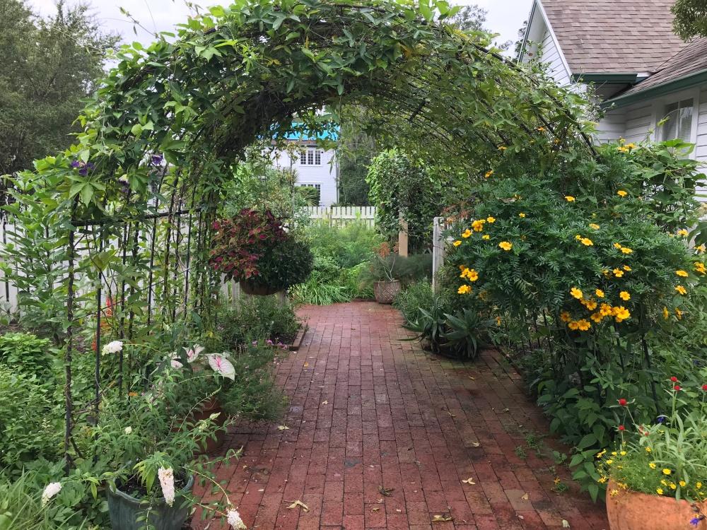 Archway in Harry P Lue gardens